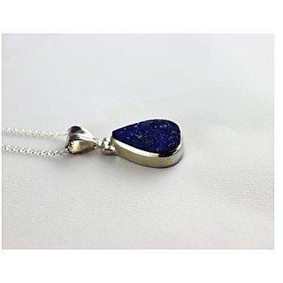 Sterling Silver lapiz lazuli/ lazwart Pendant 12.25 ratti Locketwithout chain by ratan bazaar