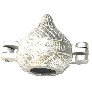 Aluminum Modak Mould, Set of 1 Piece - Silver Medium Size