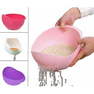 Rice Pulses Fruits Vegetable Noodles Pasta Washing Bowl  Strainer Good Quality  Perfect Size for Storing and Straining