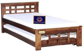 KAP Sheesham Wood, Solid Wood, queen size Bed + children bed ,  Finish Color   Teak Finish