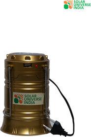 SUI Folding Led Solar Emergency Light Lantern, Usb Mobile Charging (Multicolor)