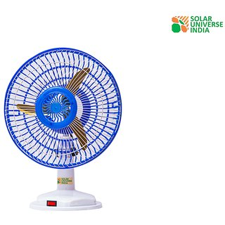 DC 12V Table Fan for Home Lighting  DC Solar System - 12 Inch, Plastic