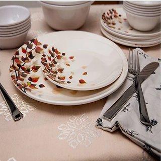 Happy Home 28 Pcs Premium Dinner Set (Leaf Flower)