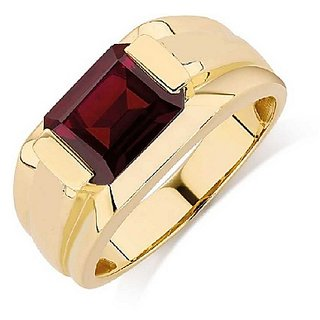 Hessonite Astrological Stone 3.25 Ratti Certified Gold Plated Ring by Ratan Bazaar