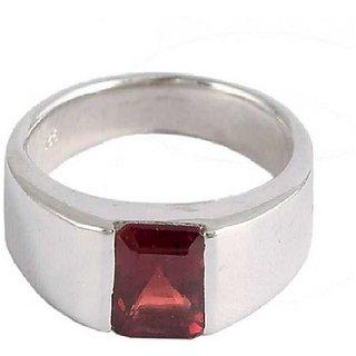 Hessonite Stone 4.5 Ratti Lab Certified Punchdhatu Silver Ring By Ratan Bazaar