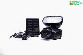 SUI Plastic Motion Sensor Security Light With Siren, Inbuilt Battery  Solar Panel  (Black, 2-watt)