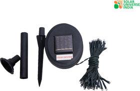 SUI Plastic Weatherproof Light, Inbuilt Battery  Solar Panel  (Black, 1-watt)