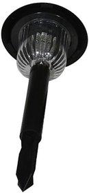 SUI Plastic Weatherproof Vintage Garden Lamp With 8 Leds, Inbuilt Battery  Solar Panel  (Black, 1-watt)