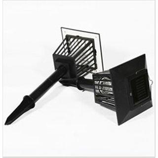 SUI Plastic Led Garden Lamp With Uv Pest Killer, Inbuilt Battery  Solar Panel  (Black, 1-watt)
