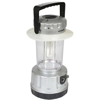 SUI Plastic CFL Lantern With 3 Way Charging (Multicolour, 7-watt)