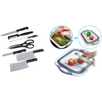 Shopper52 Stainless Steel Kitchen Knife Knives Set with