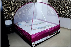 Greendot Mosquito Net for home and outdoor Foldable (Multicolour) (Size-Double Bed) - 6x6