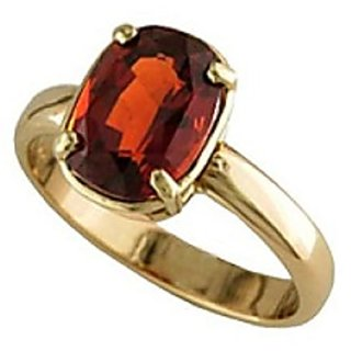 Original Hessonite Stone 11.25 Ratti Adjustable Gold Plated Ring for Womenby CEYLONMINE