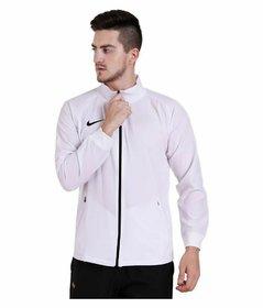 Nike White Polyester lycra Jacket