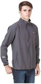 Nike Men's Grey Polyester lycra Jacket