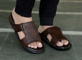 Ace3 Men's Brown Durable,Comfortable,Stylish Slipper Flip-Flops