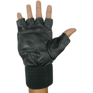 Gym Gloves  Fitness Wrist Support Weight Lifting Workout Gloves (Black) Gym  Fitness Gloves