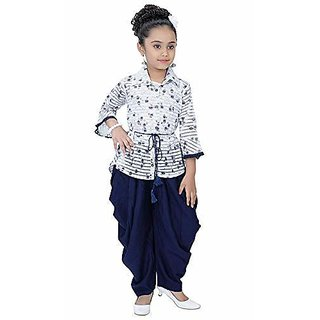 Clobay top and dhoti set for girls