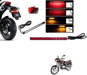 Auto Addict Bike Led Strip Tail Light Brake Light Turn Indicator Signals Light For Bajaj Discover 125