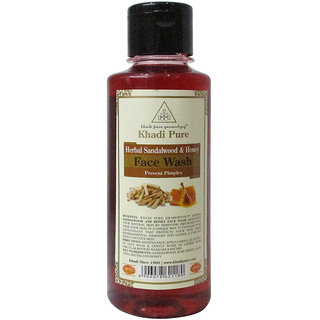 Khadi Pure Herbal Sandalwood  Honey Face Wash - 210ml