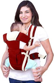 Elegant Baby Carrier with 4 carry positions, for 6 to 24 months baby, Max weight Up to 15 Kgs Red