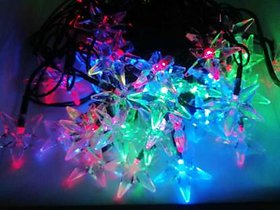 METTSTONE 252 inch Multicolor Rice Lights  (multy star)