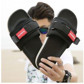 SUPREME Slide Flip flop (Black, Blue  Red)