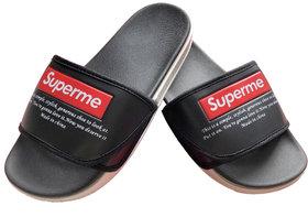 SUPREME Slide Black Flip flop