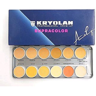 Kryolan SupraColor Concealer Palette With 12 Color