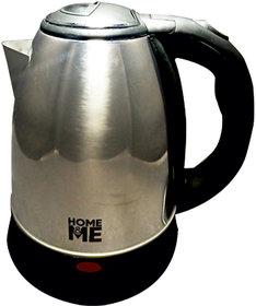HomeMe QuikBoil 2 Litre 1500 Watt Stainless Steel Electric Kettle Tea kettle Kettle flask Bell Kettle Water Kettle