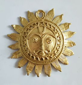 Mukherjee Handicrafts Dhokra Dokra Medium Sun Suraj I Home Decor I Interior I Handcrafted I Handmade I Artwork