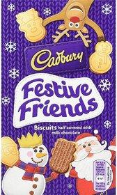 Cadbury Festive Friends Milk Chocolate Biscuits - 150g