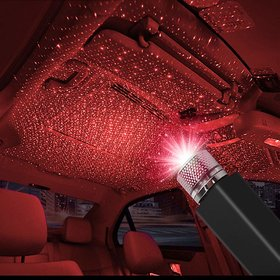 AVN Elite Set Of 1 LED Roof Star Projector Lights, USB  Adjustable Car Night Lamp Decorations with Romantic Galaxy Atmosphere