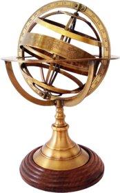 12 inch Antique Handmade Nautical Brass Armillary Sphere World Globe