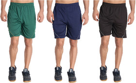 MRD SPORTS  YOGA SHORTS COMBO WITH ZIPPER POCKETS (FREE SIZE WAIST 28 to 34 INCH) (PACK of 3)