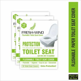 Greendot Flushable and Disposable Paper Toilet Seat Covers to Avoid Direct Contact with Unhygienic Seats - 20 Seat Cover