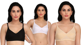 Daily Use Stylish Bra for Women and Girls Pack of 3