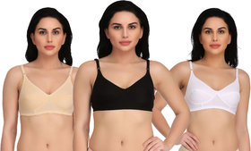 Women's Non-Padded Formal  Party Wearing Bra Pack of 3