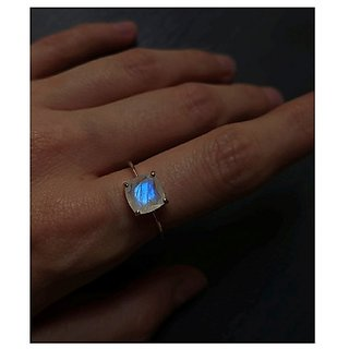 9 ratti stone pure Moonstone  Gold Plated Ring for unisex by Ratan Bazaar