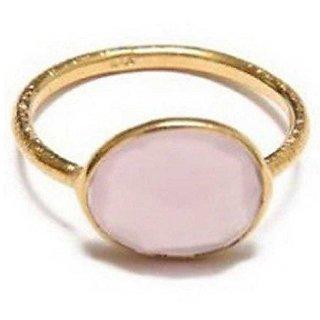Moonstone gold plated Ring 12.5 carat  natural Gemstone Stone by Ratan Bazaar