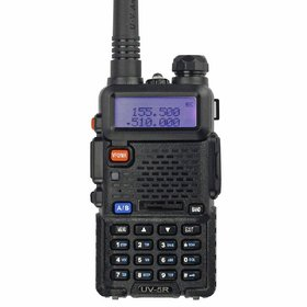Artek UV 5R UV-5R Walkie Talkie with FM Radio, LED Torch, 5-10km (Line of Sight) Frequency Range and 1800mAh Battery