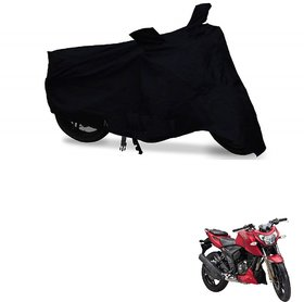 Auto Addict Bike Cover Black Matty Bike Body Cover with mirror pockets For TVS Apache RTR 200