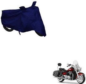 Auto Addict Bike Cover Blue Matty Bike Body Cover with Mirror Pockets For Triumph Thunderbird LT4
