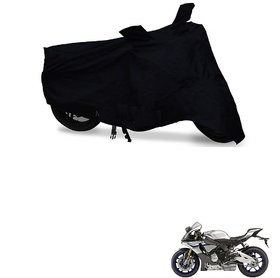 Auto Addict Bike Cover Black Matty Bike Body Cover with mirror pockets For Yamaha YZF RIM