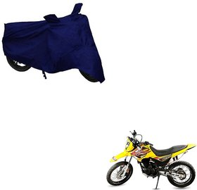 Auto Addict Bike Cover Blue Matty Bike Body Cover with Mirror Pockets For Hero Impluse