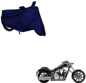Auto Addict Bike Cover Blue Matty Bike Body Cover with Mirror Pockets For Honda VT BooCx
