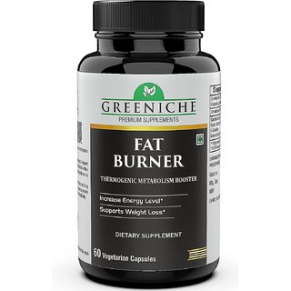 Greeniche Fat Burner with L-Carnitine, Garcinia Cambogia, Green Tea, Green Coffee Extract for Weight Loss- 60 Capsules