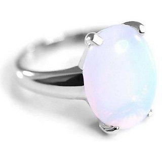 2.5 RATTI Silver Opal Ring by Ratan Bazaar