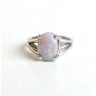 2.5 Carat Stone Opal  Silver Ring for unisex by Ratan Bazaar