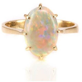 2.5 Carat Opal Gold plated  Ring by Ratan Bazaar